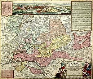 "Hessen. - Hanau. - Landkarte. - ""Comitatus Hanau""."