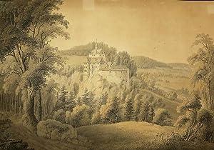 """Kriebstein. - Wizani. - """"Schloss Kriebstein bei Waldheim in Sachsen""""."""