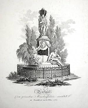 """Frankfurt (Oder). - Denkmalsansicht. - Herzog Leopold von Braunschweig. - """"Denkmal dem gr&ouml..."""