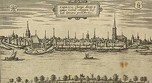 """Emmerich am Rhein. - Gesamtansicht. - Braun & Hogenberg. - """"Embrica clivensis ditionis ..."""