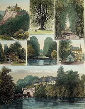 "Bad Pyrmont / Waldeck. - Mehransichtenblatt. - ""Sketches of Waldeck and Pyrmont, the Home..."