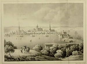 """Stralsund. - Gesamtansicht. - """"Stralsund im 16ten Jahrhundert""""."""