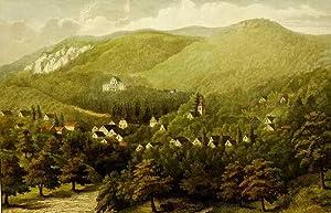 """Dannenfels. - Panoramaansicht. - """"Am Donnersberg""""."""