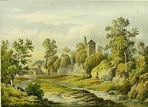 """Jena. - Gartenansicht. - Schillerstätten. - """"Schiller's Garten in Jena""""."""