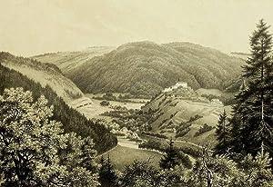 """Schwarzburg (Schwarzatal). - Gesamtansicht. - """"Schwarzburg""""."""