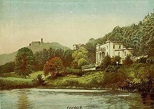 """Eisenach. - Teilansicht. - Leo Kempner. - """"Eisenach, Reuter's Villa""""."""
