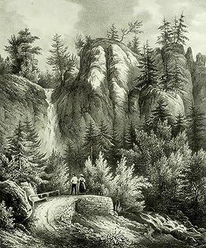 "Bad Rippoldsau-Schapbach. - Wolftalpartie. - ""Cascade pres de Rippoldsau""."