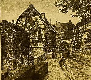 """Eisenach. - Wartburg. - Hofansicht. - """"Wartburghof""""."""