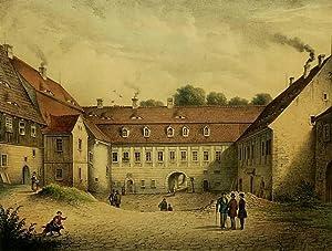 "Großhartmannsdorf. - Schloss. - Poenicke. - ""Schlosshof zu Grosshartmannsdorf""."