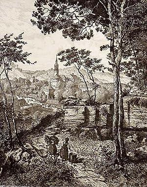 """Weesenstein / Müglitztal. - Schloss Weesenstein. - """"Schloss Weesenstein (in Sachsen)..."""