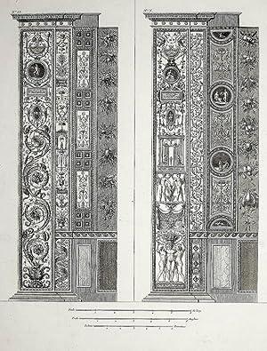 """Ornamentika . - Pilaster IX/X. - """"Loggie"""