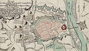 """Torgau. - Plan. - Siebenjähriger Krieg. - """"Plan der Stadt und Vestung Torgau, nebst der ..."""