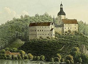 "Sachsenburg (Frankenberg / Sa.). - Schlossansicht. - ""Schloss Sachsenburg""."