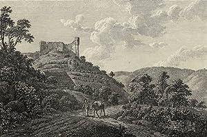 """Falkenburg. - """"Ruinen der Falkenburg / Ruines de Falkenburg""""."""