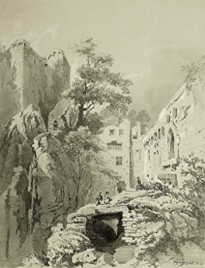 "Baden-Baden. - Ruinenansicht. - ""Interieur du Vieux Château""."