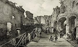 "Baden-Baden. - Ruinenansicht. - ""Interieur du Château d'Eberstein""."