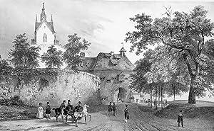 "Gernsbach. - Schlossansicht. - ""Nouveau Château d' Eberstein""."