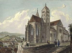 """Breisach am Rhein. - Ansicht des Breisacher Stephansmünster. - """"Kirche in Alt-Breisach&..."""