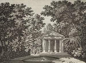 "Schwetzingen. - Gartenansicht. - ""Der Minerva-Tempel / Le Temple de Minerve""."