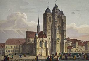 """Konstanz. - Ansicht des Konstanzer Münster. - """"Domkirche in Konstanz""""."""