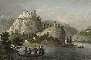 """Unterholzen (Winzer). - Ansicht der Burg Hochwinzer. - """"Hoch-Winzer in Baiern""""."""