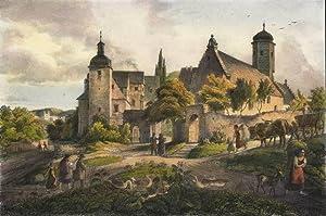 "Obernitz (Saalfeld). - Schlossansicht. - ""Obernitz""."