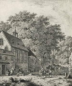 """Kobell, Ferdinand von. - """"Die Kapelle im Wald""""."""