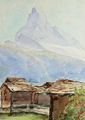"Winkelmatten (Zermatt). - Ansicht des Matterhorns. - ""Winkelmatten""."