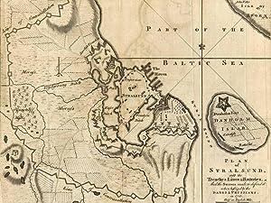 Stralsund Karte.Stralsund Befestigungsplan Mit Karte Der