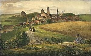 """Oelsnitz / Vogtland. - Gesamtansicht. - Saxonia. - """"Oelsnitz""""."""