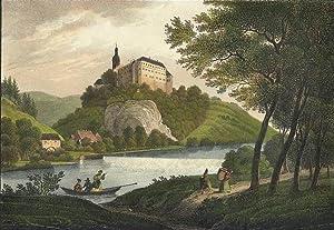"""Frankenberg / Sachsen. - Schlossansicht. - Saxonia. - """"Schloss Sachsenburg""""."""