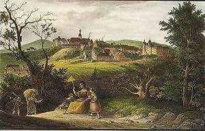 """Lauenstein (Altenberg). - Gesamtansicht. - Saxonia. - """"Lauenstein""""."""