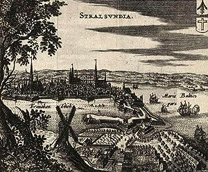 """Stralsund. - Gesamtansicht. - """"Stralsundia""""."""