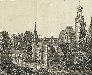 """Hartenstein. - Schlossansicht. - """"Das alte Schloss Stein""""."""
