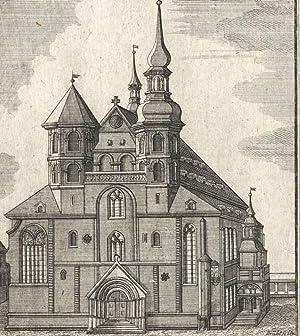 """Görlitz. - Kirchenansicht. - """"Prospect der Kirche zu St. Petri und Pauli zu Görlitz&..."""