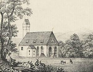 """Sohland an der Spree. - Kirchenansicht. - """"Kirche zu Sohland an der Spree""""."""