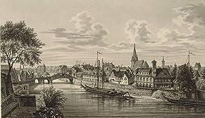 """Bernburg (Saale). - Ansicht der Saale. - """"Bernburg""""."""