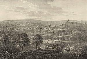 """Eisleben (Lutherstadt). - Gesamtansicht. - Saxonia. - """"Eisleben""""."""