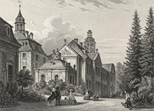 """Biendorf (Bernburg). - Teilansicht. - Schloss. - """"Schloss Biendorf in Anhalt""""."""