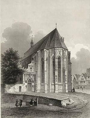 """Halle (Saale). - Kirchenansicht. - """"Die Moritzkirche in Halle""""."""