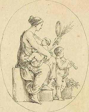 Unbekannter Künstler. - Personifikation der Mutterschaft.