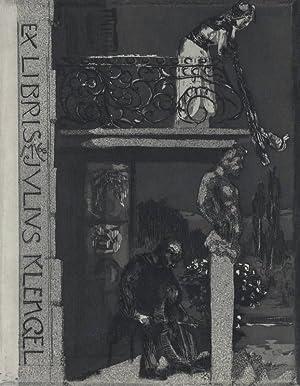 """Klinger, Max. - """"Ex Libris Julius Klengel""""."""
