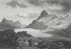 Bernina-Pass und Oberengadin. - Ansicht des Hochtals.