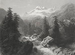 Alp Handegg. - Ansicht der Alp bei
