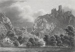 Balsthal. - Ansicht der Burgruine Neu-Falkenstein. -