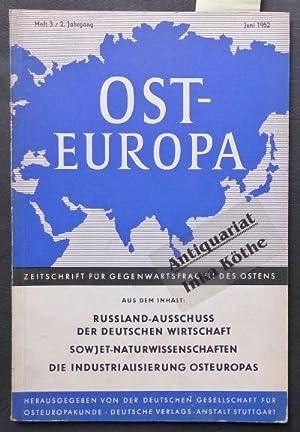Osteuropa - Zeitschrift für Gegenwartsfragen des Ostens: Mehnert, Klaus und