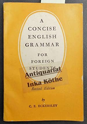 A Concise English Grammar for Foreign Students -