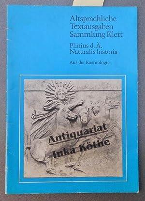 Naturalis historia : Textauswahl aus Buch II: Plinius Secundus, Gaius
