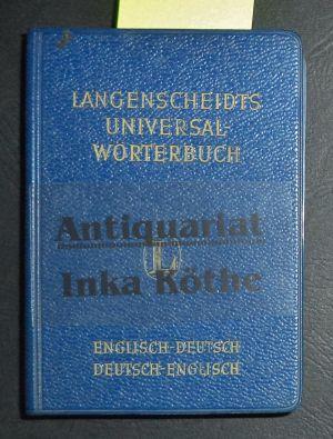 Langenscheidts Universal-Wörterbuch Teil 1: Englisch-Deutsch und Teil