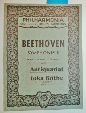 Symphonie II - D dur - D: Beethoven, Ludwig van: